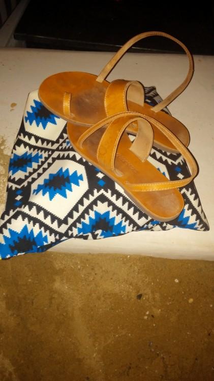 My Greek Salad sandals...