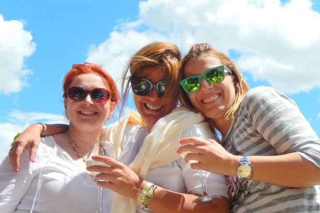 Με την Κατερίνα Χριστοπούλου και την Μαρίλυ Φίλιου