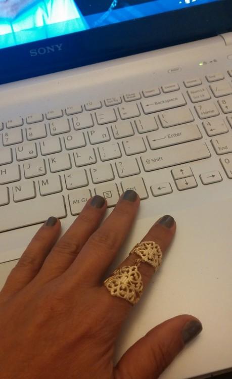 Δαχτυλίδι από επιχρυσωμένο ασήμι...