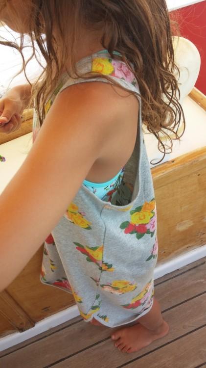 Girls Organic Cotton Sleeveless Sweat Dress