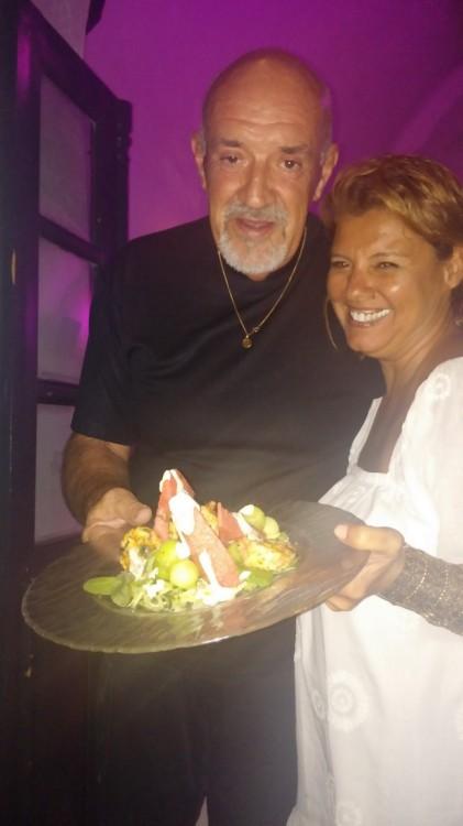 Με τον star chef του νησιού...