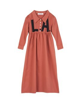 Girls Brick Colour LA Maxi Dress