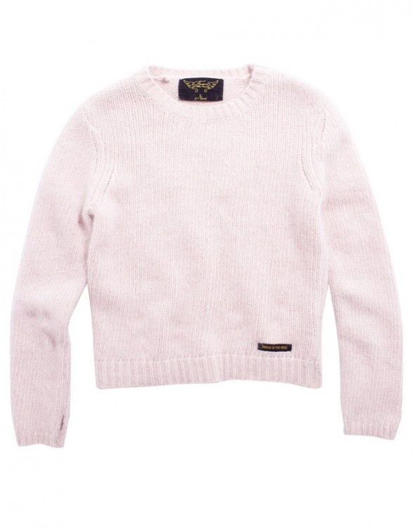 Girls Soft Pale Pink Angora Sweater