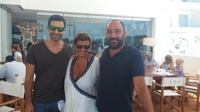 Με τον Μίλτο Καμπουρίδη και τον Νικόλα Κατσαρό