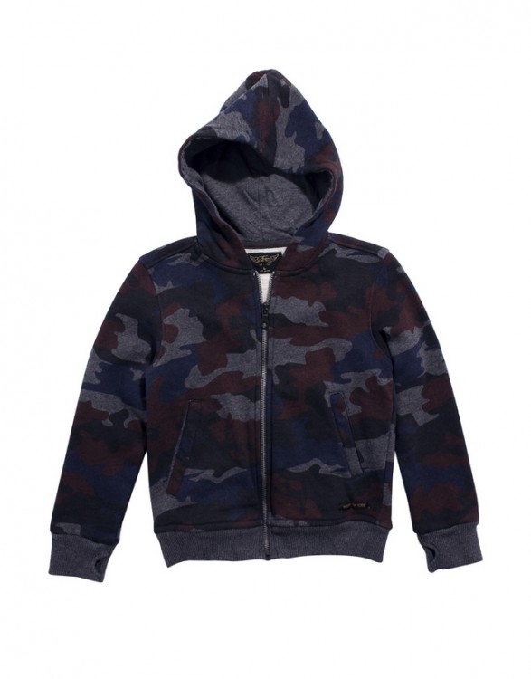 Boys Cotton Fleece Camouflage Sweat Jacket