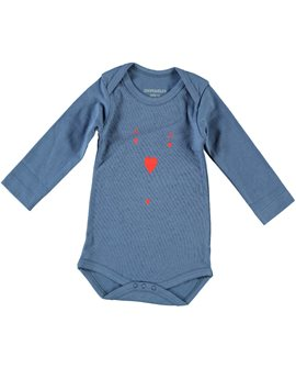 Baby Boy Pearl Blue Ace of Hearts Bodysuit