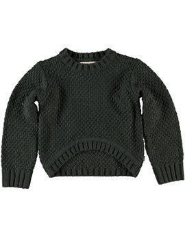 Αυτό το πήρα και στην Ελμίνα, το βρήκα και σε μεγαλύτερα νούμερα! Unisex Dark Grey Cotton Knit Sweater
