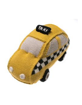 Baby Alpaca Knitted New York Taxi Cab