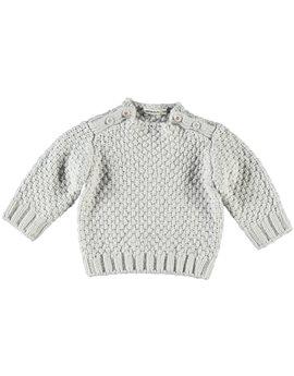 Unisex Baby Light Grey Cotton Sweater