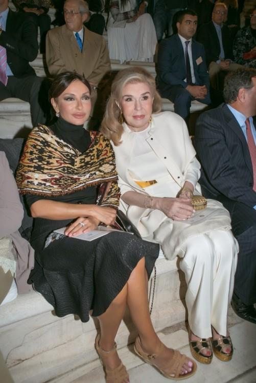 Οι κυρίες Mehriban Aliyeva και Μαριάννα Β. Βαρδινογιάννη