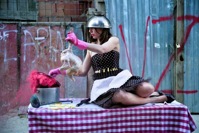 enia-Behraki-kitchen-fight-II-2009-print-courtesy-Zoumboulakis-Gallery