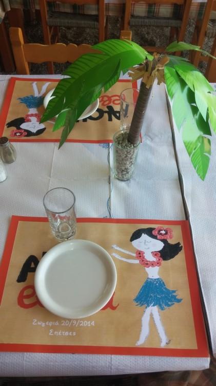Art de la table...Τα καθιερωμένα σουπλά που της κάνω σε κάθε γενέθλια, δια χειρός Πουκ...