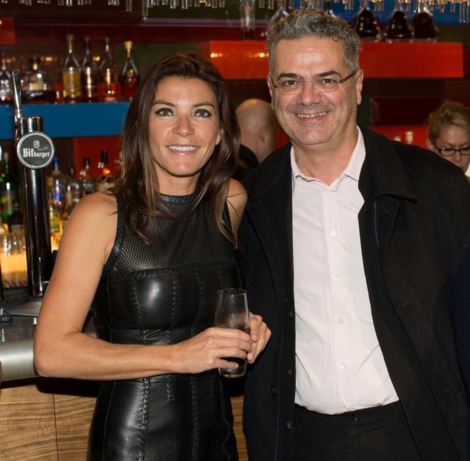 Η Μαρίνα Βερνίκου με τον Rupen Kalfayan, ιδιοκτήτης της Kalfayan Gallery