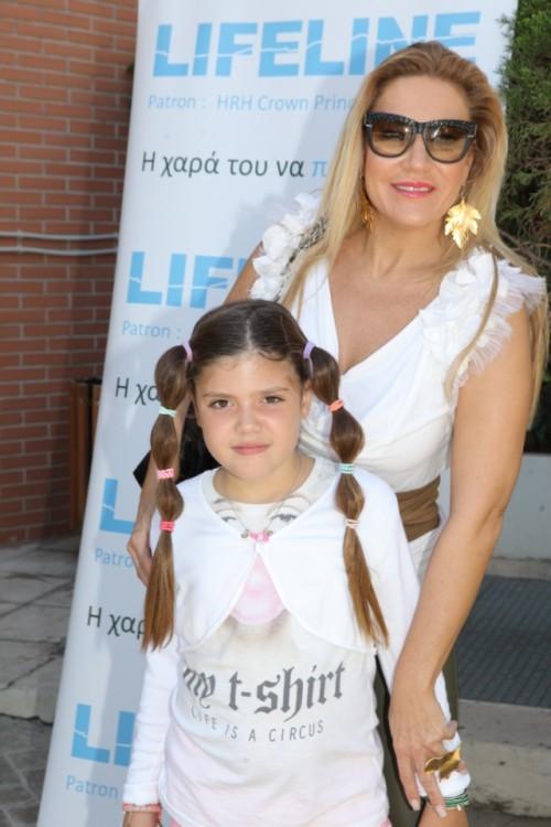 Η Φανή Λεβέντη με την κόρη της