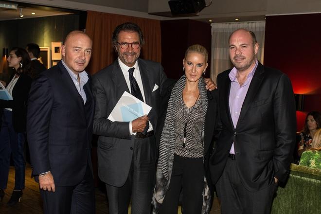 Ferit Sahenk, πρόεδρος του fund που εξαγόρασε τον Αστέρα Βουλιαγμένης), Tonino Kacache (ιδιοκτήτης του Capri Palace Hotel, Diane Sahenk, Levent Kizil