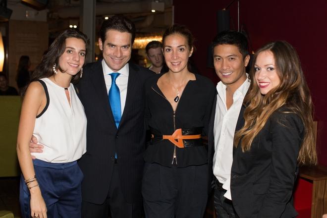 Άρτεμις Σταματιάδη, ο αντιπρόεδρος του ΕΟΤ Χριστόφορος Καπαρουνάκης, Άννα Χατζηνάσιου, Rodolfo Publico, Όλγα Παπαδοπούλου