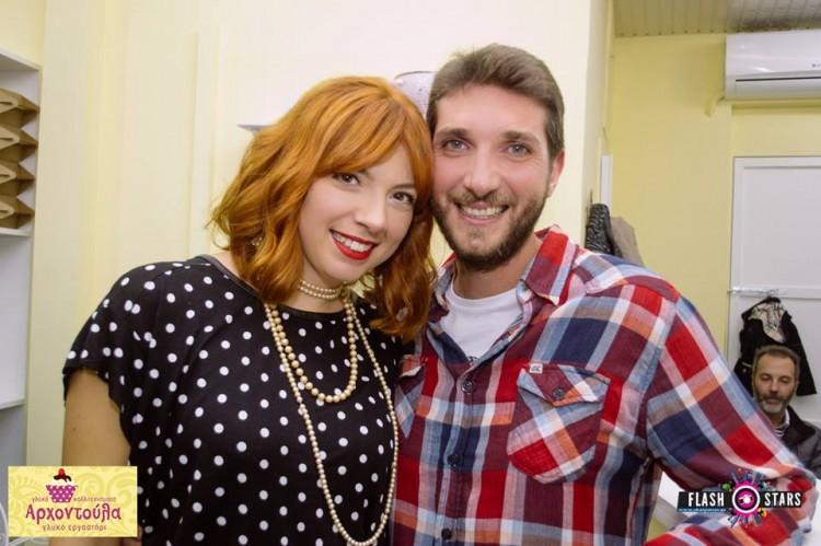 Με τον σύζυγο της, Κώστα Μπονέλη