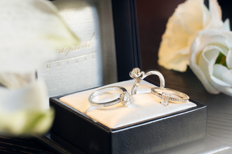 Still life picture engagement rings