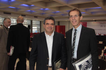 Ο Καλλιτεχνικός Διευθυντής της Art Thessaloniki κ. Παντελής Τσάτσης με τον Πρόεδρο της ΔΕΘ-Helexpo, κ. Τάσο Τζήκα