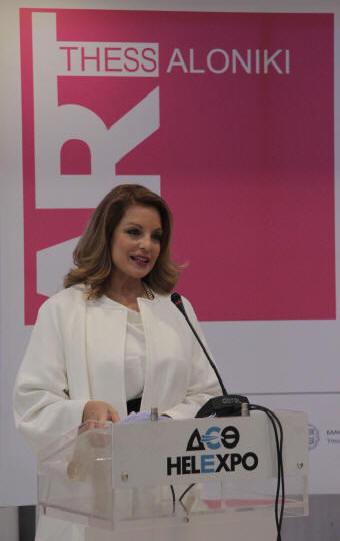 Η υφυπουργός Πολιτισμού & Αθλητισμού, Άντζελα Γκερέκου