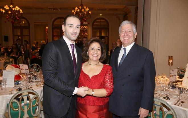 Ο Νίκος Κοκλώνης με το Πριγκιπικό ζεύγος της Σερβίας
