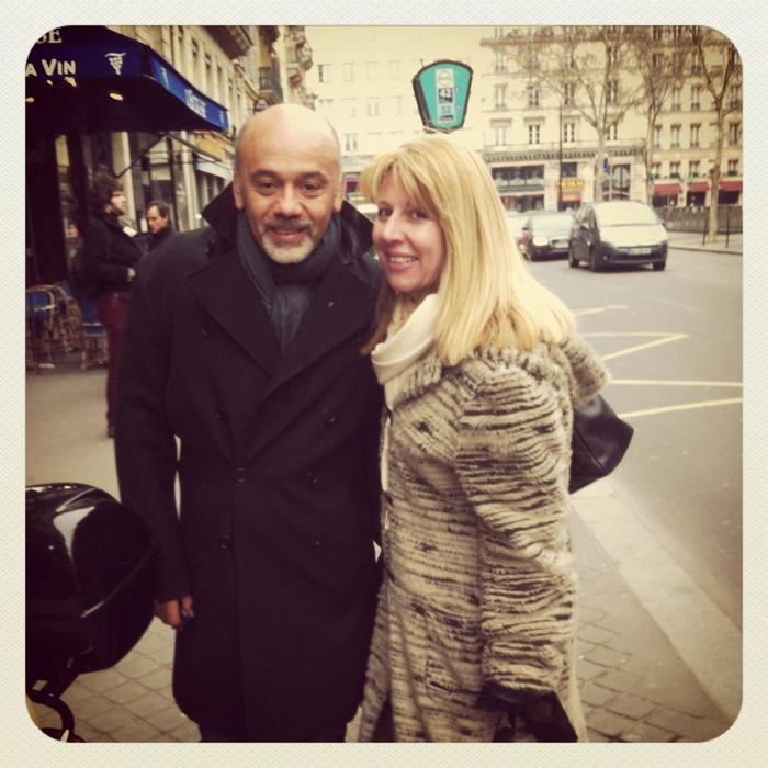 Με τον Christian Louboutin...