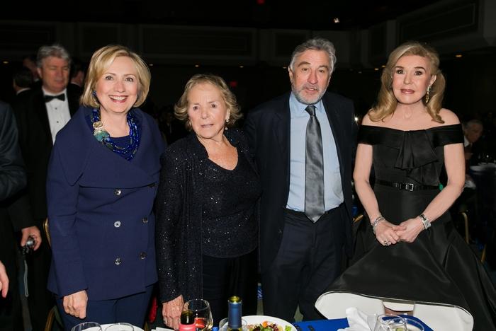 Hillary Clinton, Ethel Kennedy, Robert De Niro, Μαριάννα Β. Βαρδινογιάννη