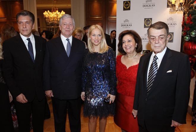 Δρ. Ζήσης Μπουκουβάλας, Πρίγκιπας Αλέξανδρος, Μαρί Κυριακού, Πριγκίπισσα Αικατερίνη, Μίνως Κυριακού