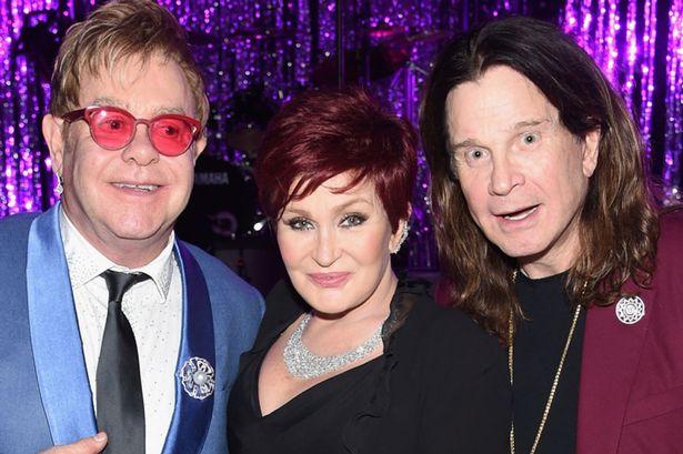 Elton John, Ozzy & Sharon Osbourne