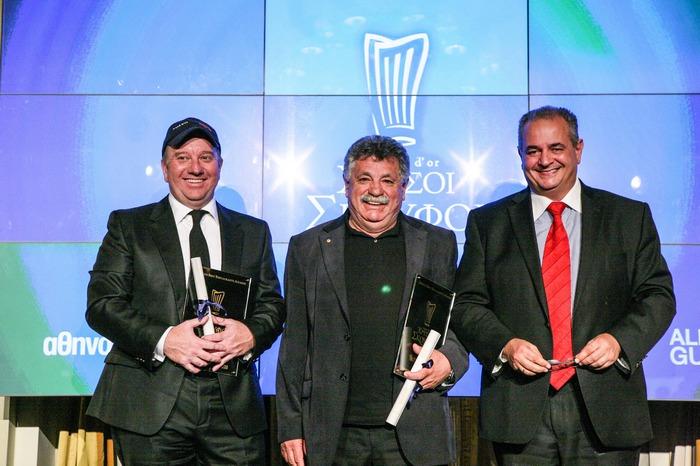 Ο Γενικός Γραμματέας του ΕΟΤ Πάνος Λειβαδάς απένειμε τα βραβεία στα εστιατόρια που βραβεύτηκαν με 16/20 και ένα Χρυσό Σκούφο, τα οποία παρέλαβαν ο Λευτέρης Λαζάρου (Varoulko Seaside) και ο Έκτορας Μποτρίνι (Botrini's).