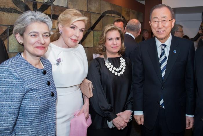 Irina Bokova, Mαριάννα Β. Βαρδινογιάννη, Μεγάλη Δούκισσα του Λουξεμβούργου Μαρία Τερέζα, Ban Ki-moon