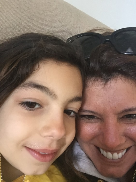 Η selfie: Mε την κόρη μου...