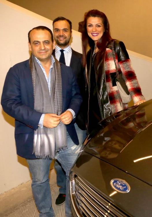 Ο Βασίλης Ζούλιας και ο Περικλής Κονδυλάτος με την Κατερίνα Γιαμπουρά της Ford Motor Hellas