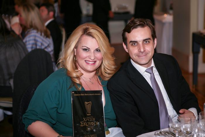 Η Γωγώ Αυγερινοπούλου με τον Ηλία Κοκοτό του βραβευμένου εστιατορίου Old Mill της Κρήτης