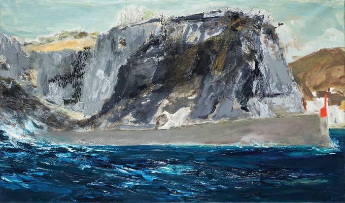 Ύδρα, θάλασσα|1998 Ακουαρέλα, 70 Χ 100 εκ.