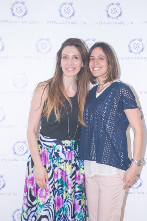 Οι διοργανώτριες της εκδήλωσης, Δήμητρα Λαζαράτου & Μαρία Παπαθανασίου-Αρώνες