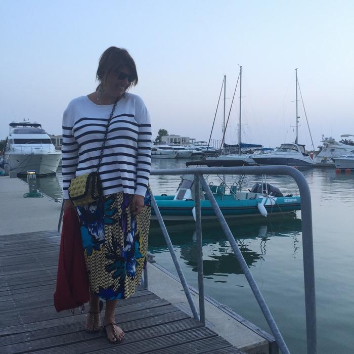 Για την σημερινή γαστρονομική εμπειρία επιλέγω να φορέσω άλλη μία φούστα από την φετινή Συλλογή της Pinko που με βγάζει πάντα ασπροπρόσωπη...