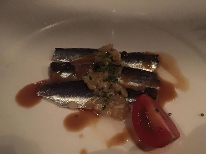 Sardine Su Miso! Marinated sardine with Japanese mild mustard...