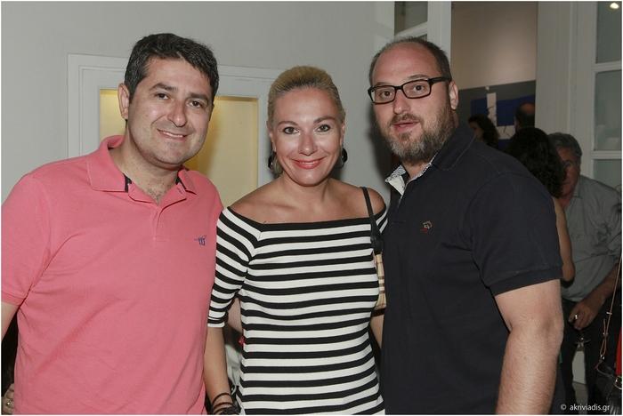 Γιώργος Μυλωνάκης, Τίνα Μεσσαροπούλου και Γιώργος Νικολαΐδης