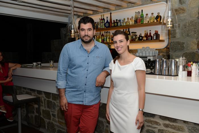 Ο Chef  Γκίκας Ξενάκης με την Έλενα Μηνιάδη