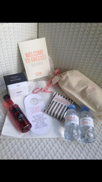 Goody Bags για τους καλεσμένους του ζευγαριού από το εξωτερικό