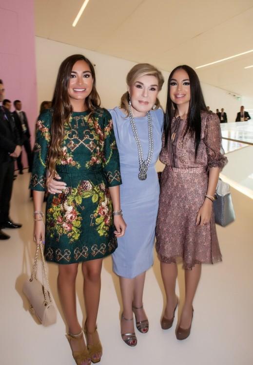Arzou, κόρη της Μehriban Aliyeva, Μαριάννα Β. Βαρδινογιάννη, Leila, κόρη της Μehriban Aliyeva
