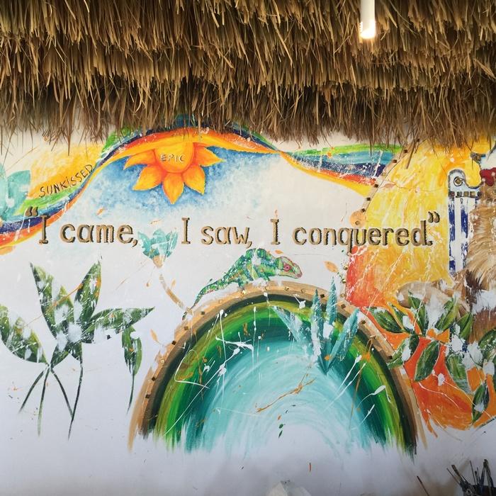 I came, I saw, I conquered ζωγραφίζει η Καρολίνα Ροβύνθη στους τοίχους...