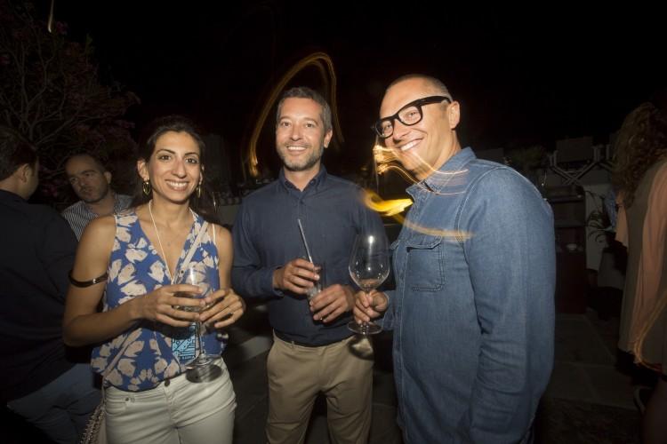 Μυρτώ Αναστασοπούλου, Δημήτρης Βερέμης και Μάριος Τζίτζιρας στο Thea Restaurant του BelvedereHotel