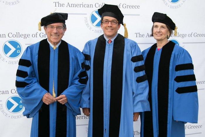 Anthony T. Kronman- Sterling Professor of Law, Yale Law School / Mέλος του Συμβουλίου Επιτρόπων του Αμερικανικού Κολλεγίου Ελλάδος,  Philip Korologos – Partner, Boies, Schiller & Flexner / Πρόεδρος του Συμβουλίου Επιτρόπων του Αμερικανικού Κολλεγίου Ελλάδος,  Ann W. Caldwell - Resident Scholar,  Brandeis University Women's Studies Research Center / Μέλος του Συμβουλίου Επιτρόπων του Αμερικανικού Κολλεγίου Ελλάδος