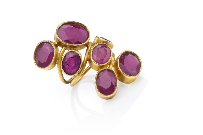 Grapes_Ring with rubies 22K