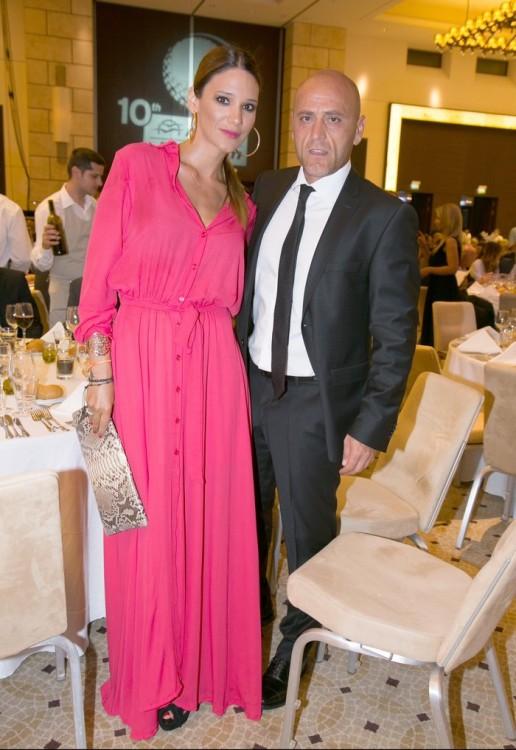 Γρηγόρης Γεωργάτος με τη σύζυγό του