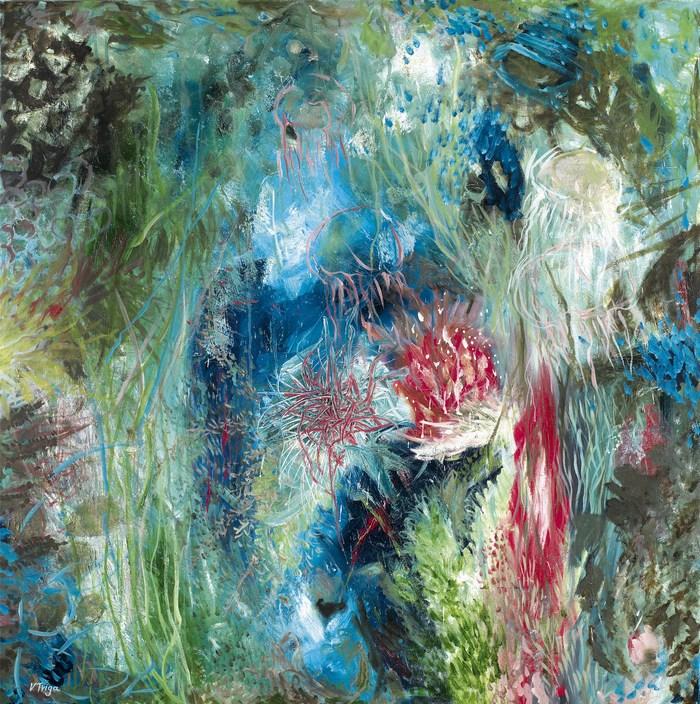 …με φιάλη οξυγόνου, 100 χ 100 cm, λάδι σε καμβά  …with a tank of oxygen, 100 χ 100 cm, oil on canvas