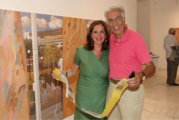 Η Διευθύντρια της Gallery Citronne και ιστορικός τέχνης, Τατιάνα Σπινάρη – Πολλάλη  με τον Νικηφόρο Διαμαντούρο