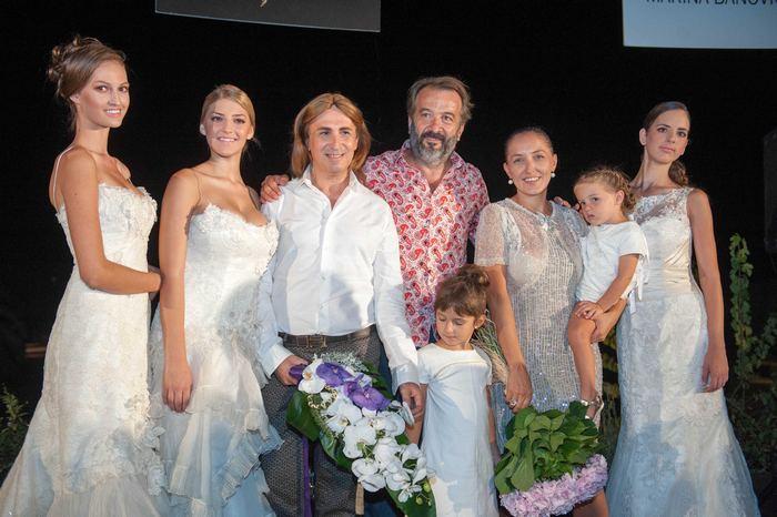 Ο Μιχάλης Μανιάτης, ο Zoran Vukcevic και η Marina Banovic ανάμεσα στα μοντέλα της βραδιάς